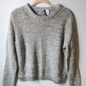 Divided Knit Sweater Top